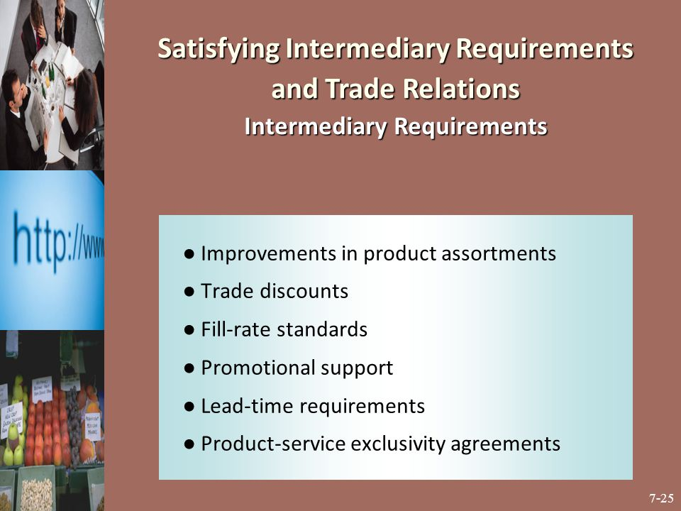 Satisfying Intermediary Requirements and Trade Relations Intermediary Requirements
