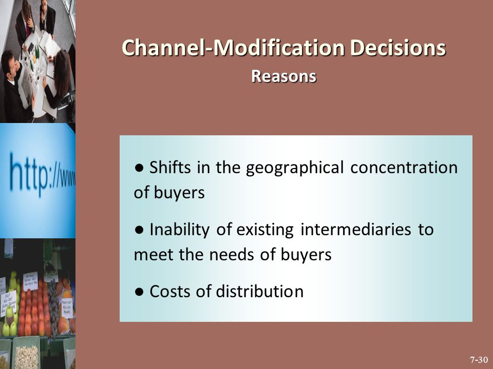 Channel-Modification Decisions Reasons