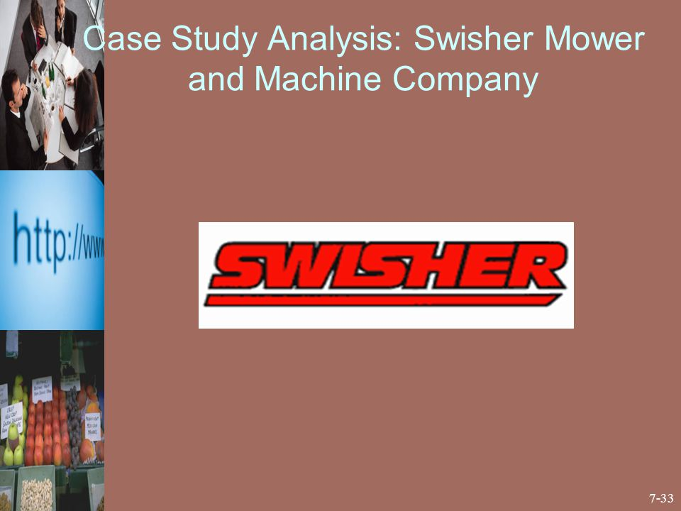 swisher mower and machine company essay Essay preview more ↓ swisher mower and machine company situation  analysis a industry within the lawn and garden industry, 74 percent of sales  came.
