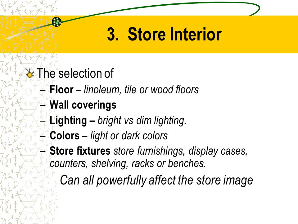 Can all powerfully affect the store image