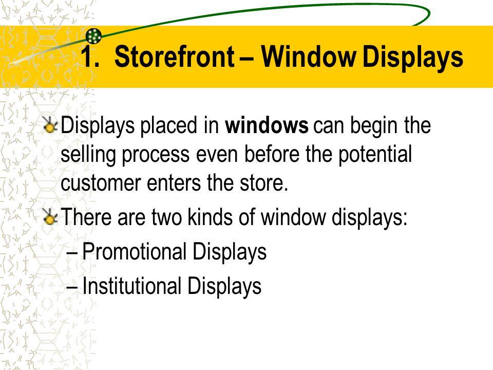 1. Storefront – Window Displays