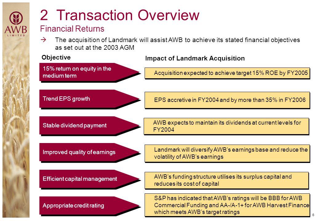 2 Transaction Overview Financial Returns