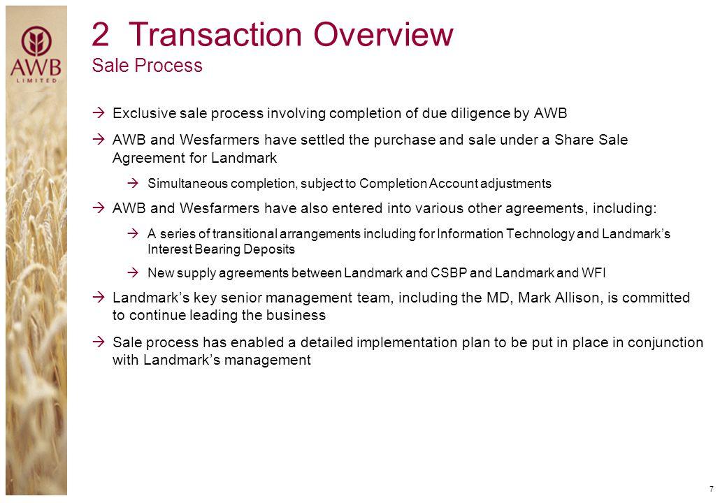 2 Transaction Overview Sale Process