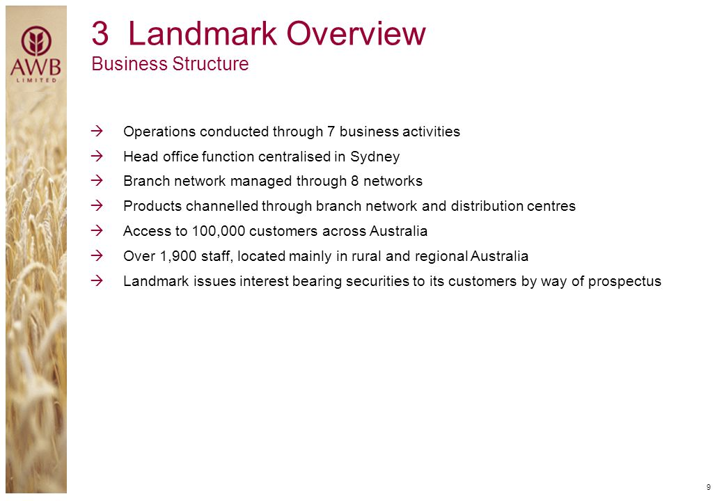 3 Landmark Overview Business Structure