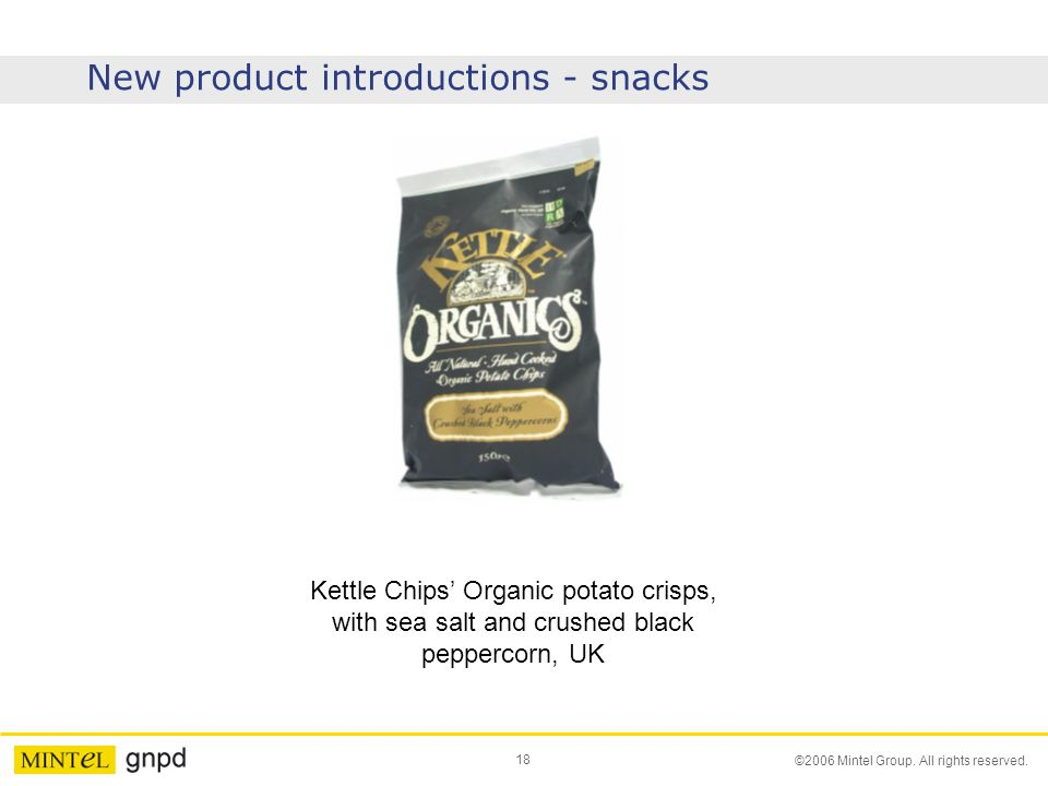 New product introductions - snacks