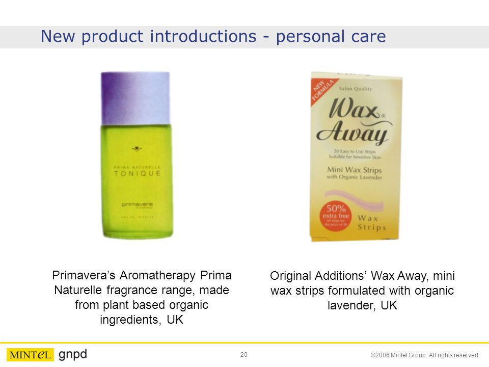 New product introductions - personal care