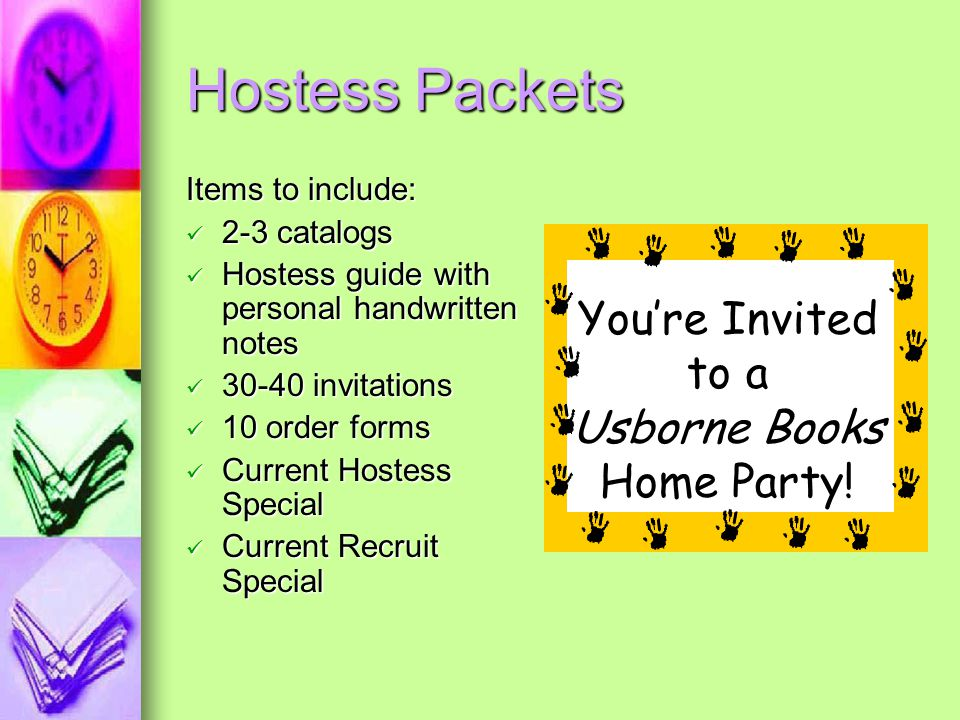 Hostess Packets You're Invited to a Usborne Books Home Party!