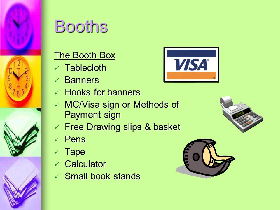 Booths The Booth Box Tablecloth Banners Hooks for banners