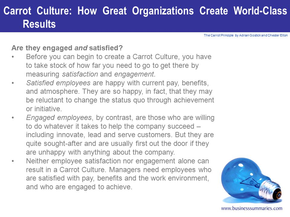 Carrot Culture: How Great Organizations Create World-Class Results