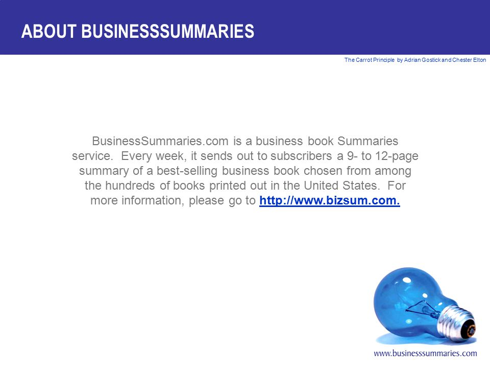 ABOUT BUSINESSSUMMARIES