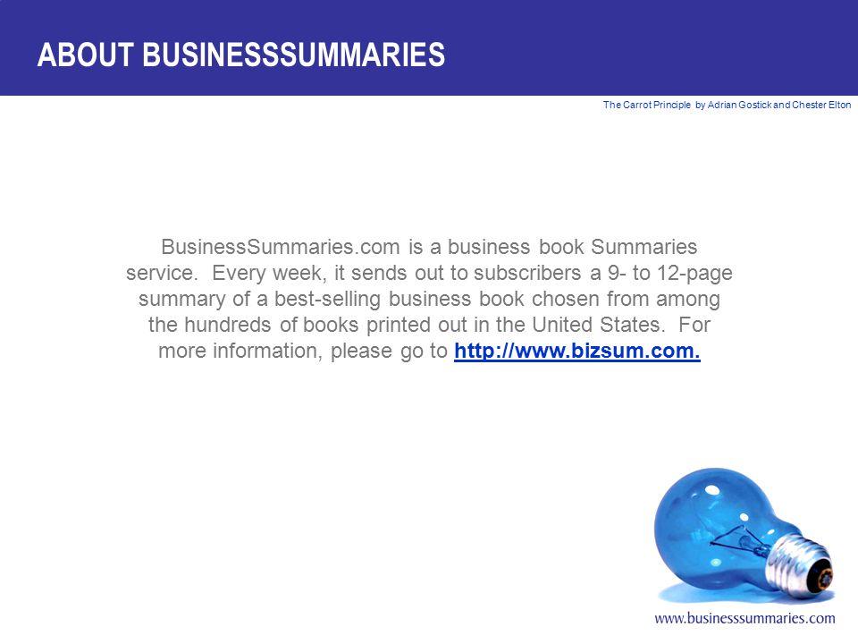 ABOUT BUSINESSSUMMARIES