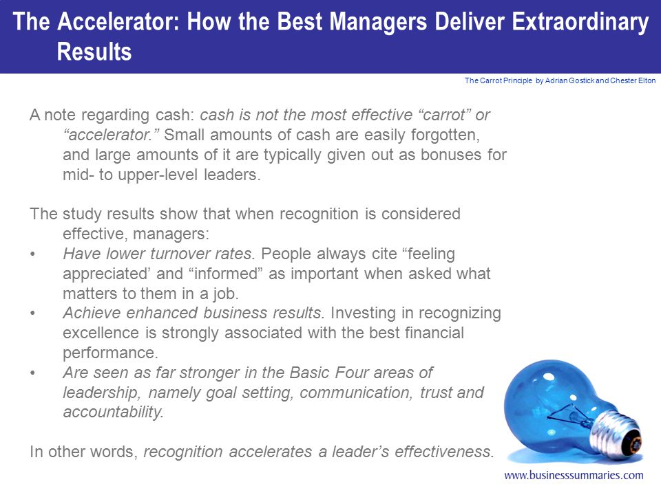 The Accelerator: How the Best Managers Deliver Extraordinary Results
