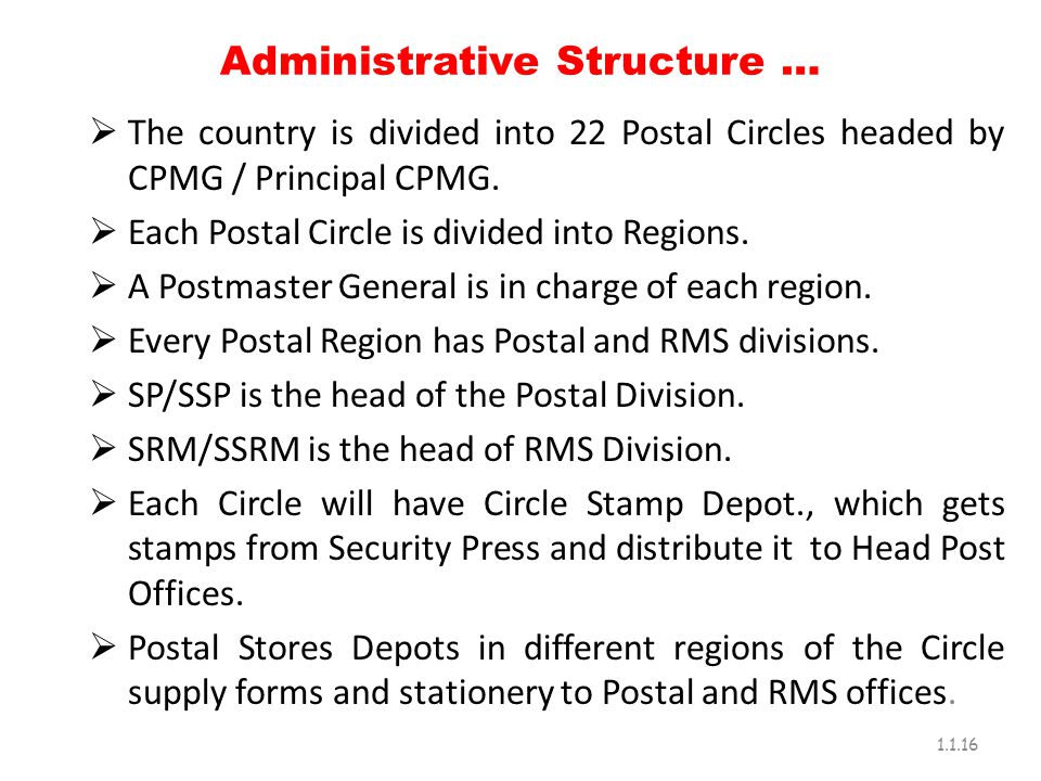 Administrative Structure …