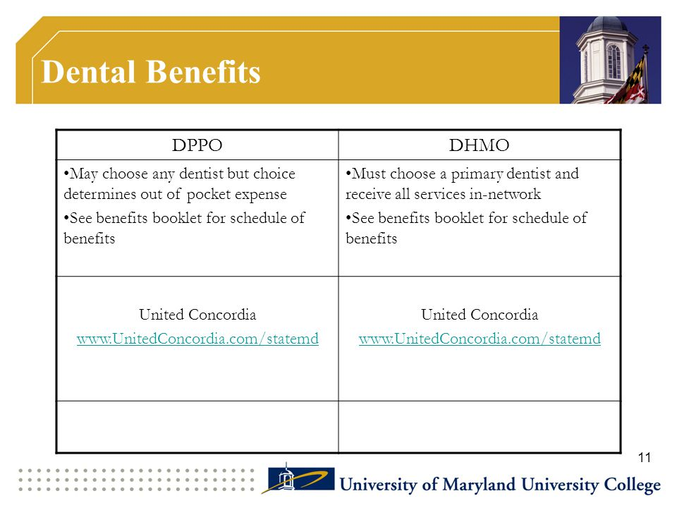 Dental Benefits DPPO DHMO