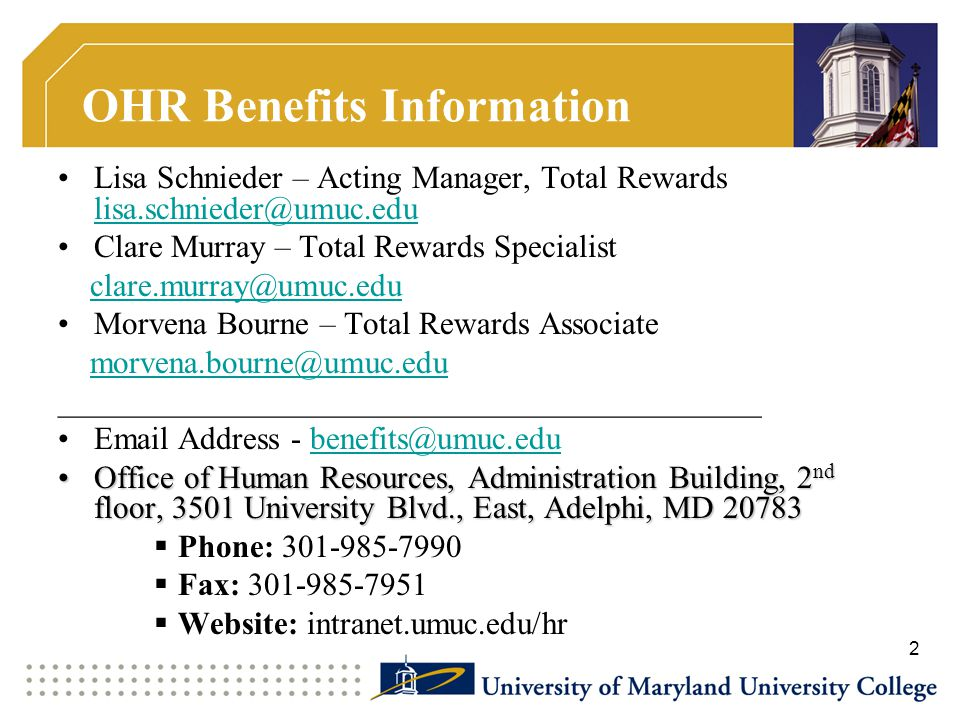 OHR Benefits Information