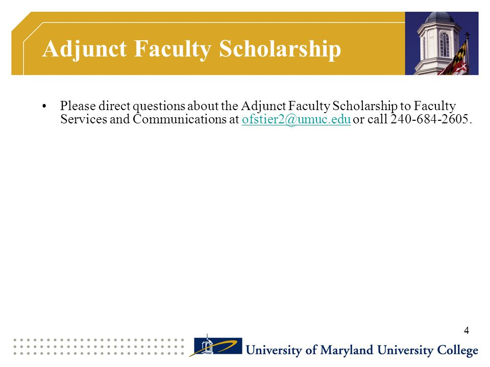 Adjunct Faculty Scholarship
