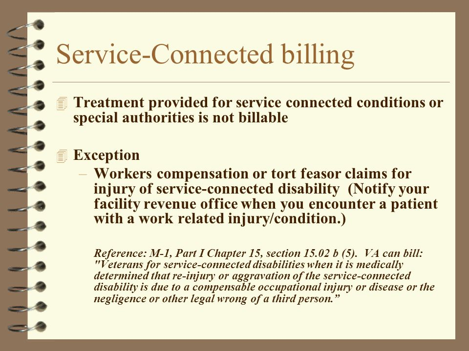 Service-Connected billing