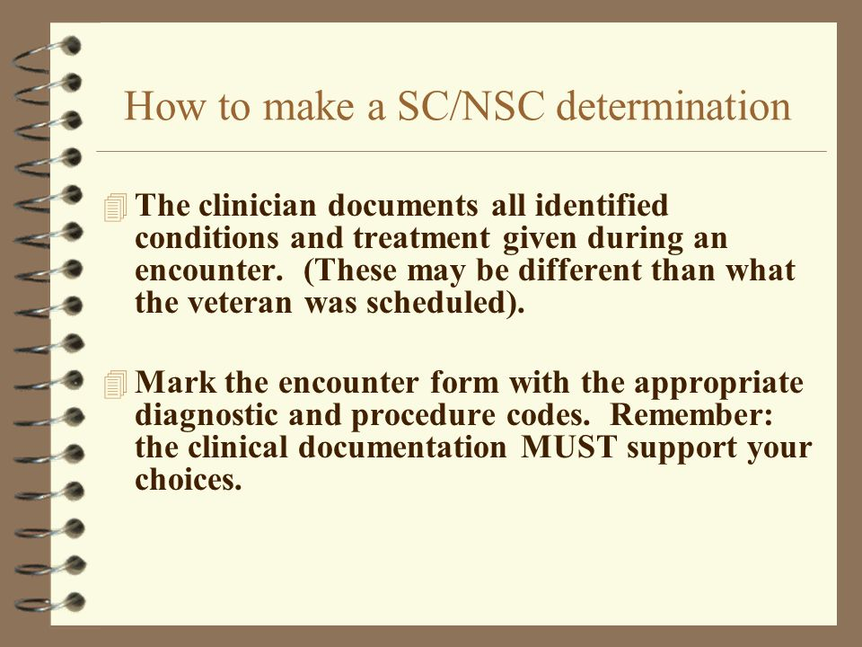 How to make a SC/NSC determination