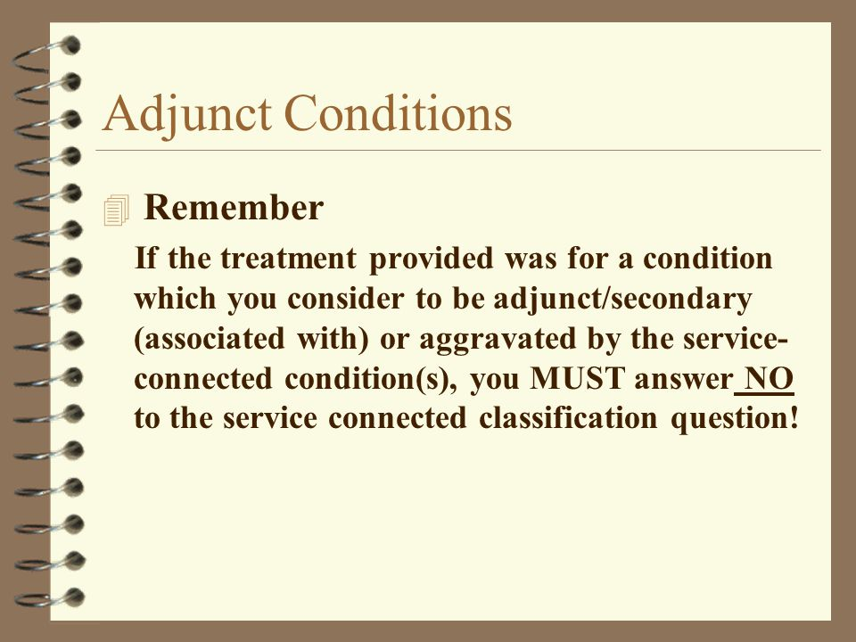 Adjunct Conditions Remember