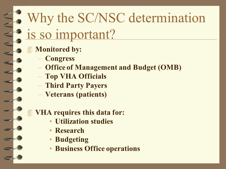 Why the SC/NSC determination is so important