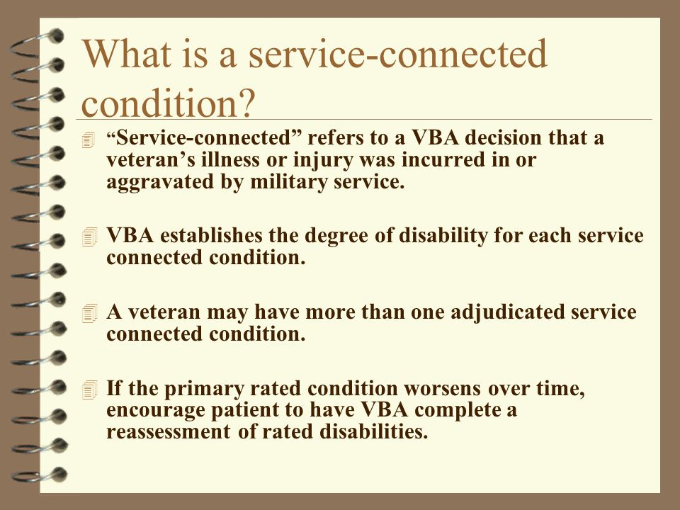 What is a service-connected condition