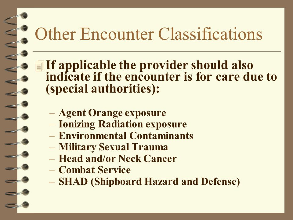 Other Encounter Classifications