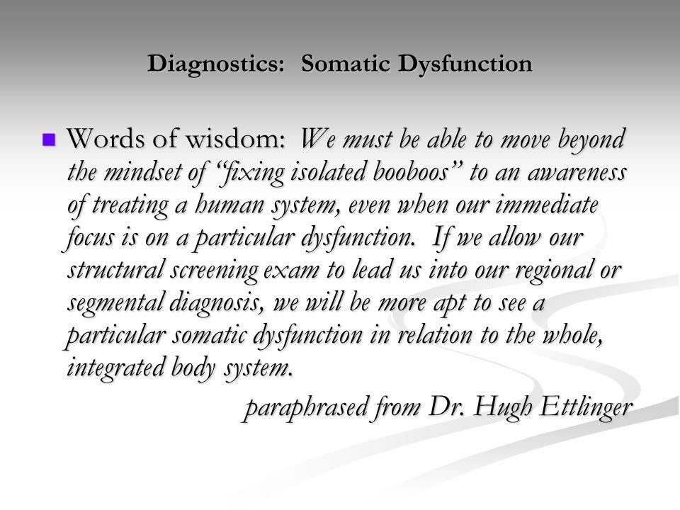 Diagnostics: Somatic Dysfunction