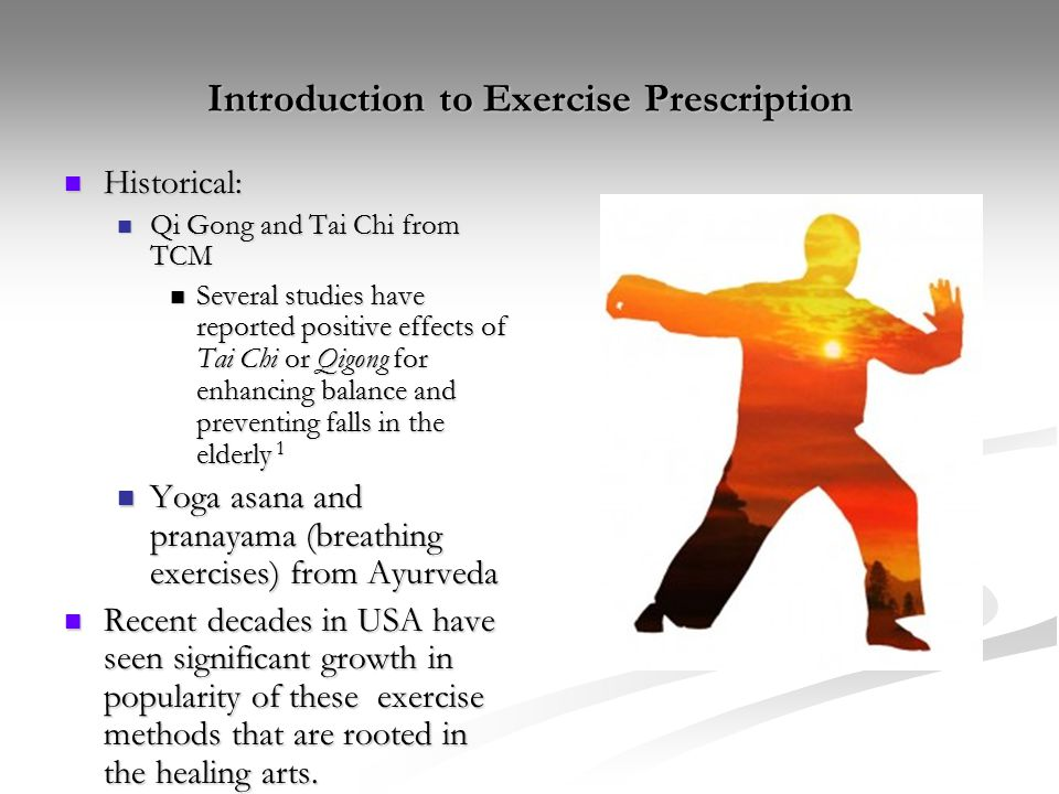 Introduction to Exercise Prescription