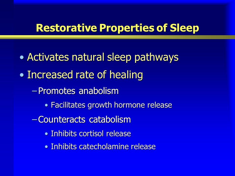 Restorative Properties of Sleep