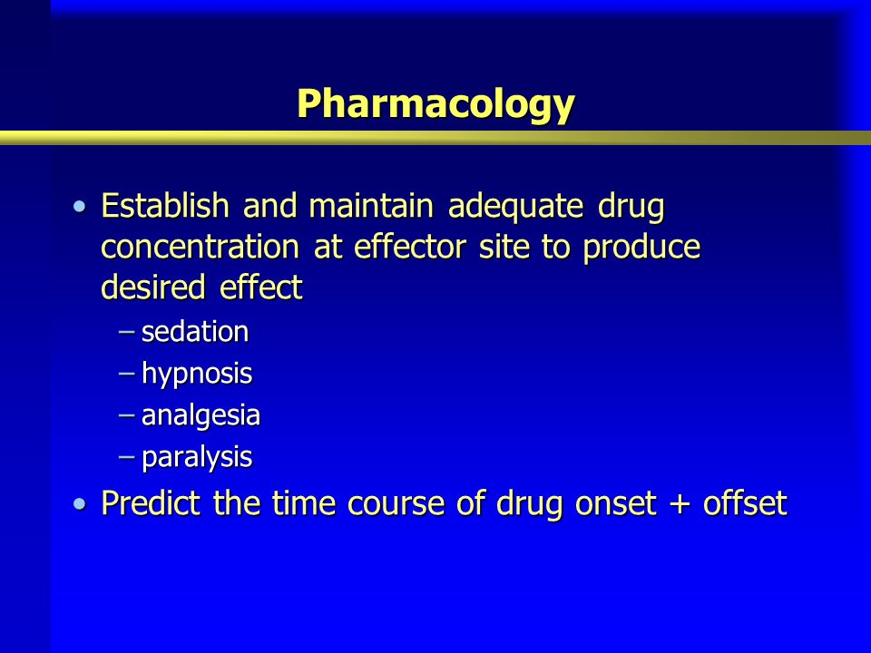 Pharmacologic Agents Used for the Sedative and Analgesic Management of ICU Patients