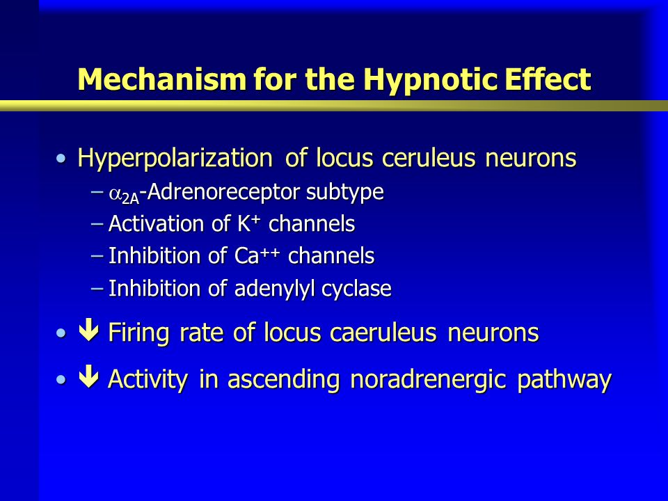 Mechanism for the Hypnotic Effect