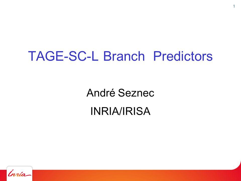 TAGE-SC-L Branch Predictors