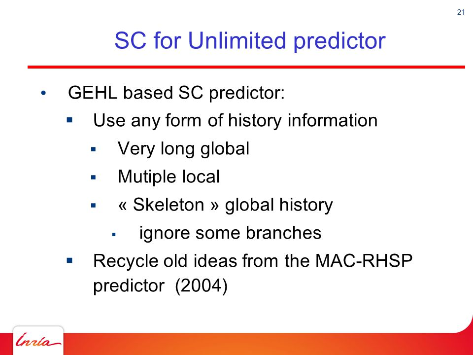 SC for Unlimited predictor