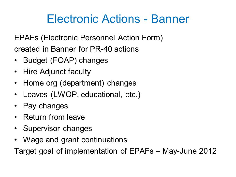 Electronic Actions - Banner