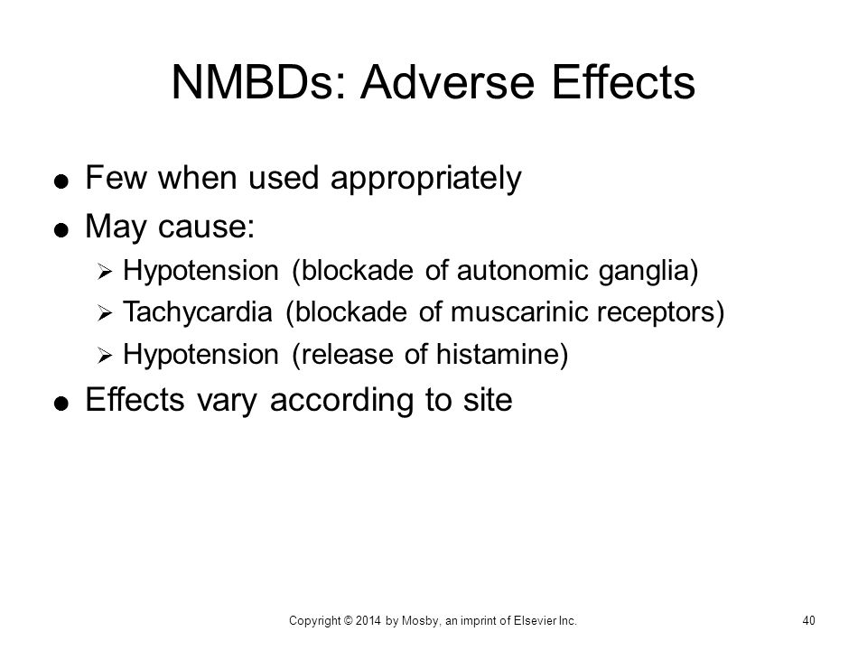 NMBDs: Adverse Effects