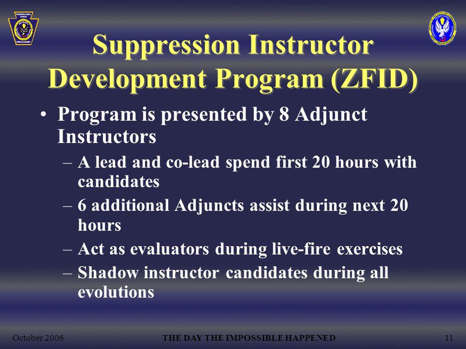 Suppression Instructor Development Program (ZFID)