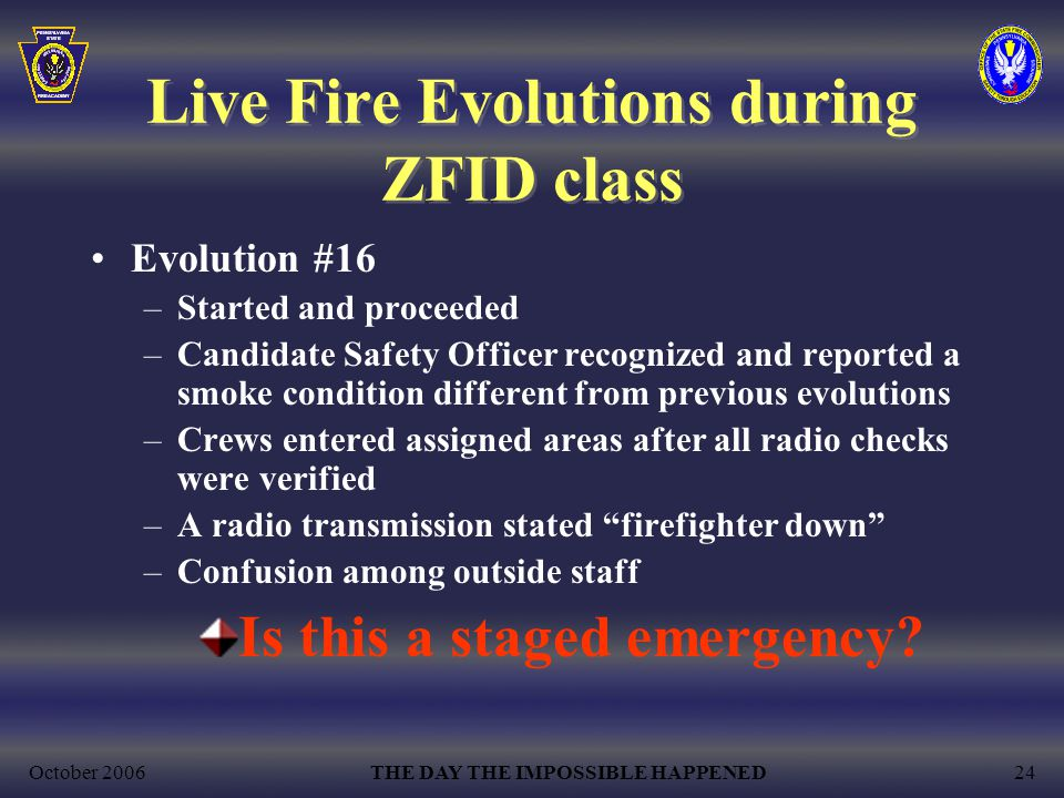 Live Fire Evolutions during ZFID class