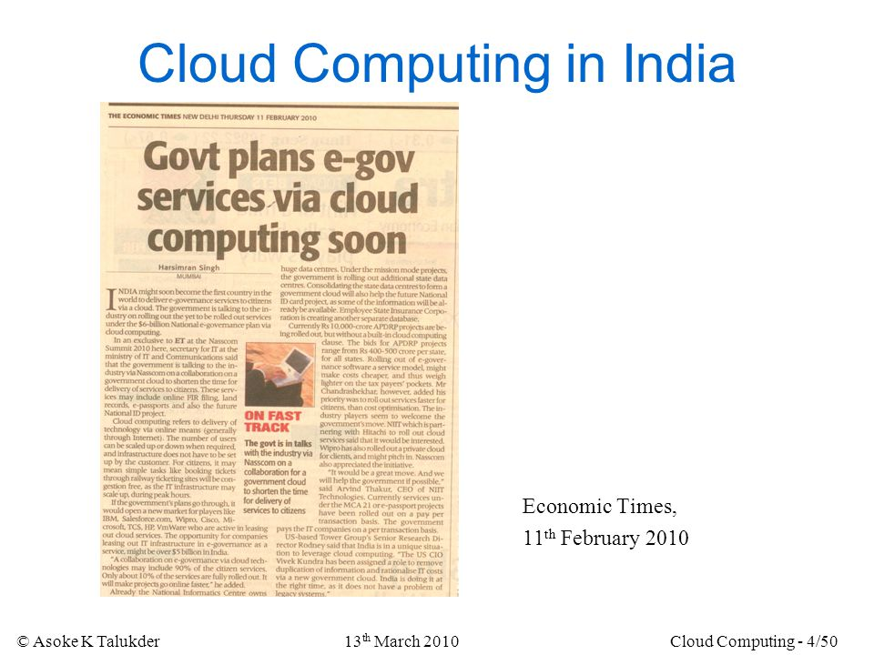 Cloud Computing in India