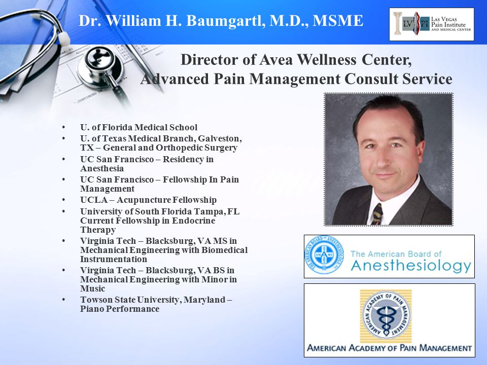 Dr. William H. Baumgartl, M.D., MSME