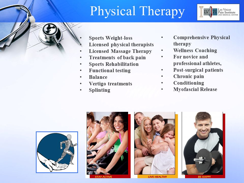 Physical Therapy Comprehensive Physical therapy Sports Weight-loss