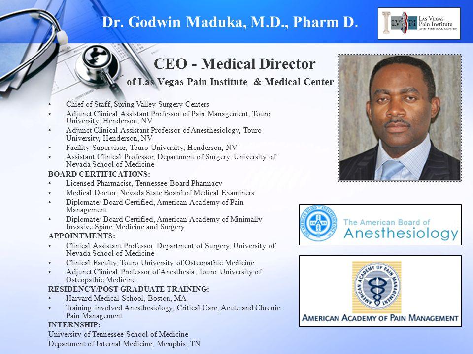 Dr. Godwin Maduka, M.D., Pharm D.