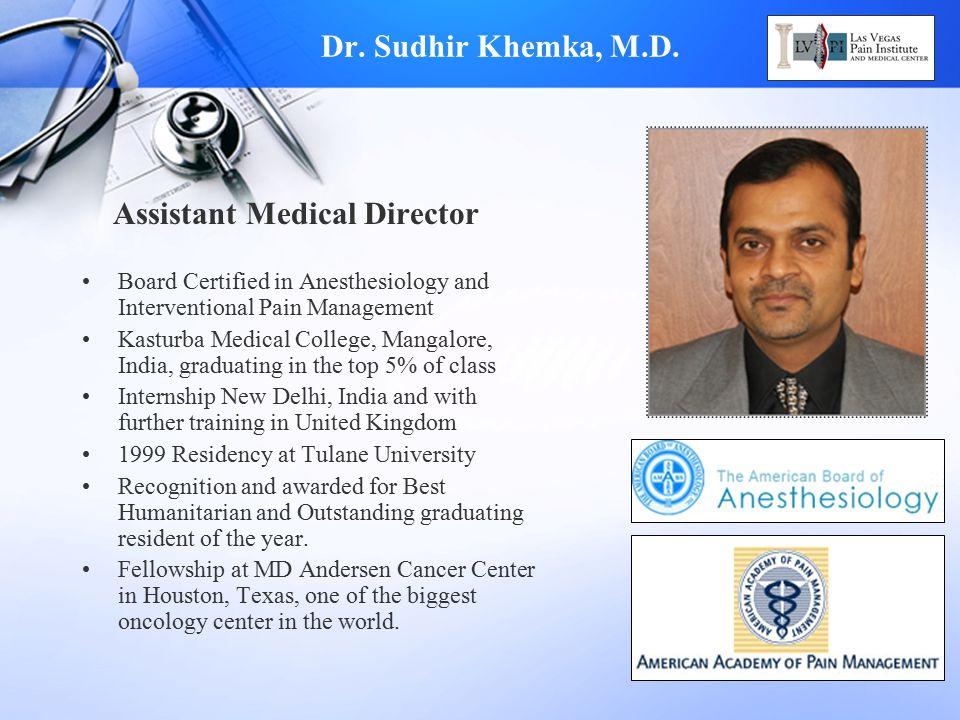 Assistant Medical Director
