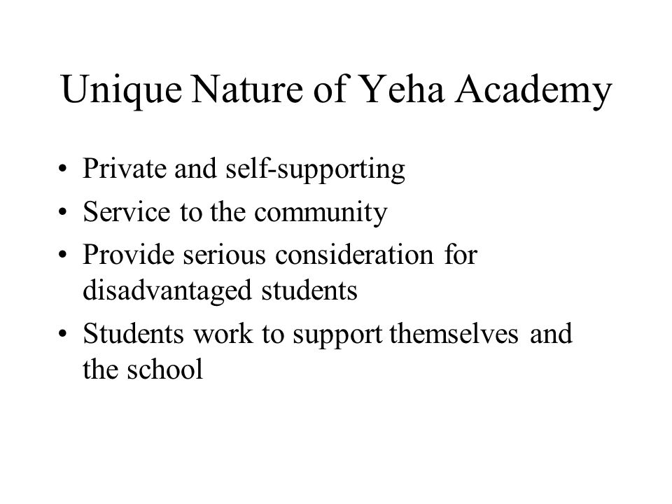 Unique Nature of Yeha Academy