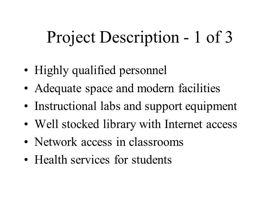 Project Description - 1 of 3