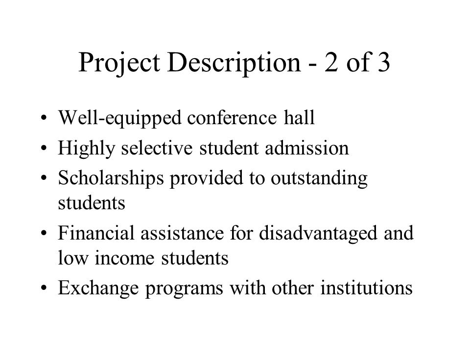 Project Description - 2 of 3