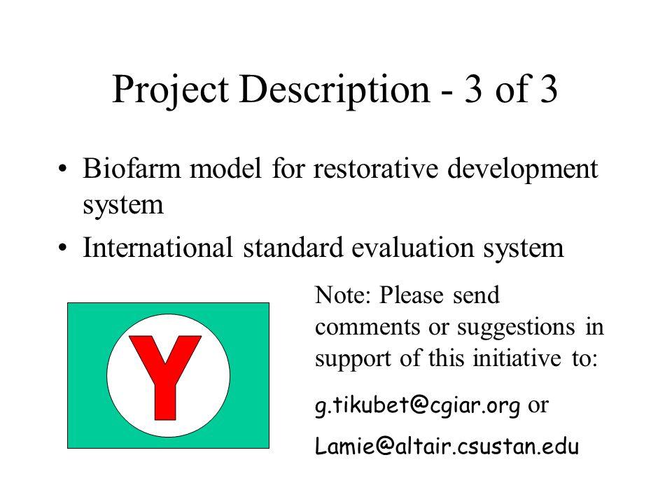 Project Description - 3 of 3