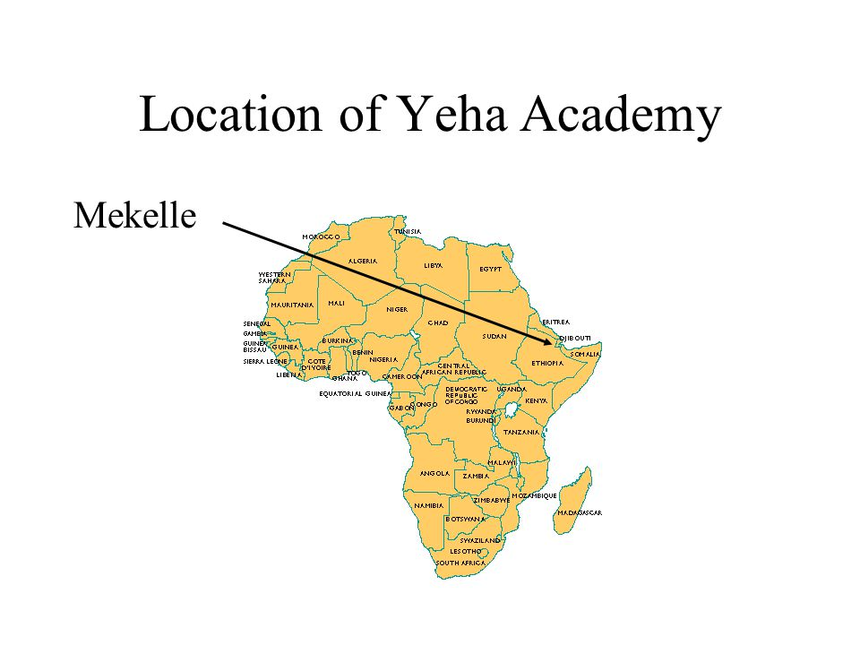 Location of Yeha Academy