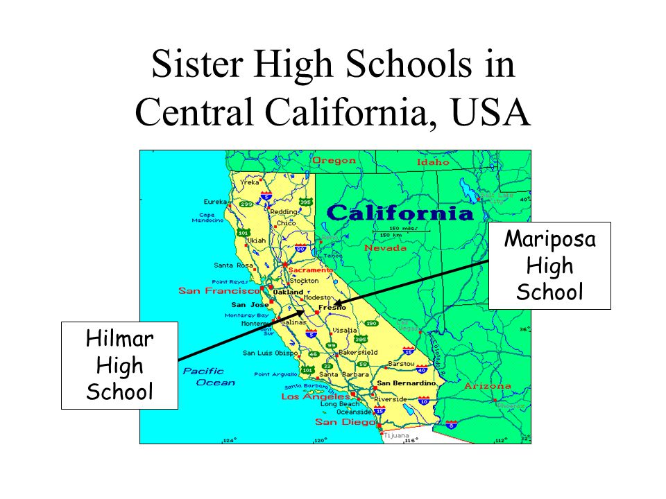 Sister High Schools in Central California, USA