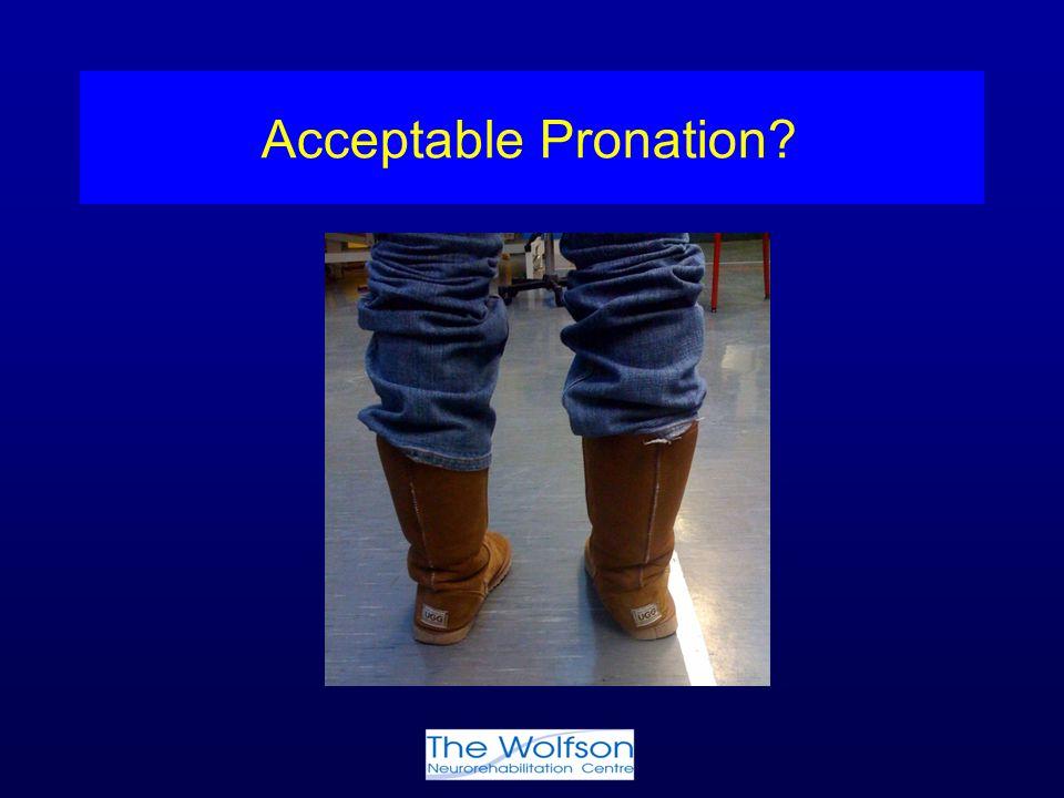 Acceptable Pronation