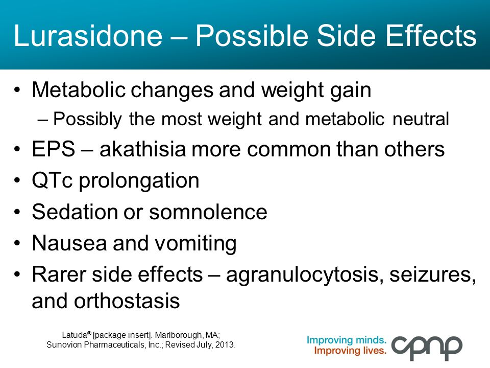 Lurasidone – Possible Side Effects